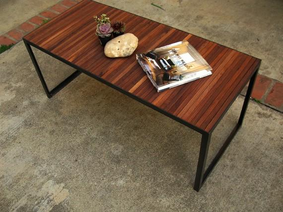 RERVED FOR RJAYKAUFMAN Walnut slat coffee table door HawkAndStone