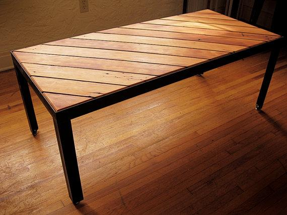 Slant Coffee Table Gorgeous Reclaimed Wood Door Hawkandstone 152344 On Wookmark