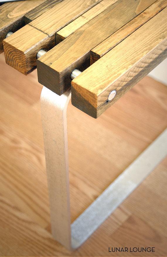 SPB4 spruce slat bench Eames Era Mid door lunarloungedesign