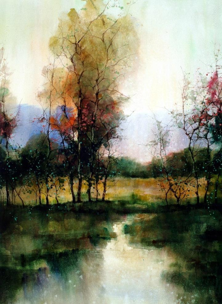 Beautiful Watercolor Landscapes (12 pieces) - My Modern Metropolis