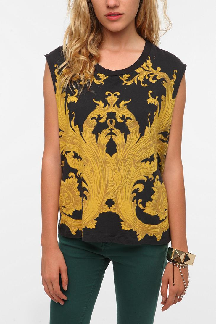 Truly Madly Deeply Scroll Muscle Tee - Urban Outfitters