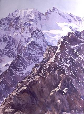 Watercolor paintings of mountains, page 2, by Wayne Roberts