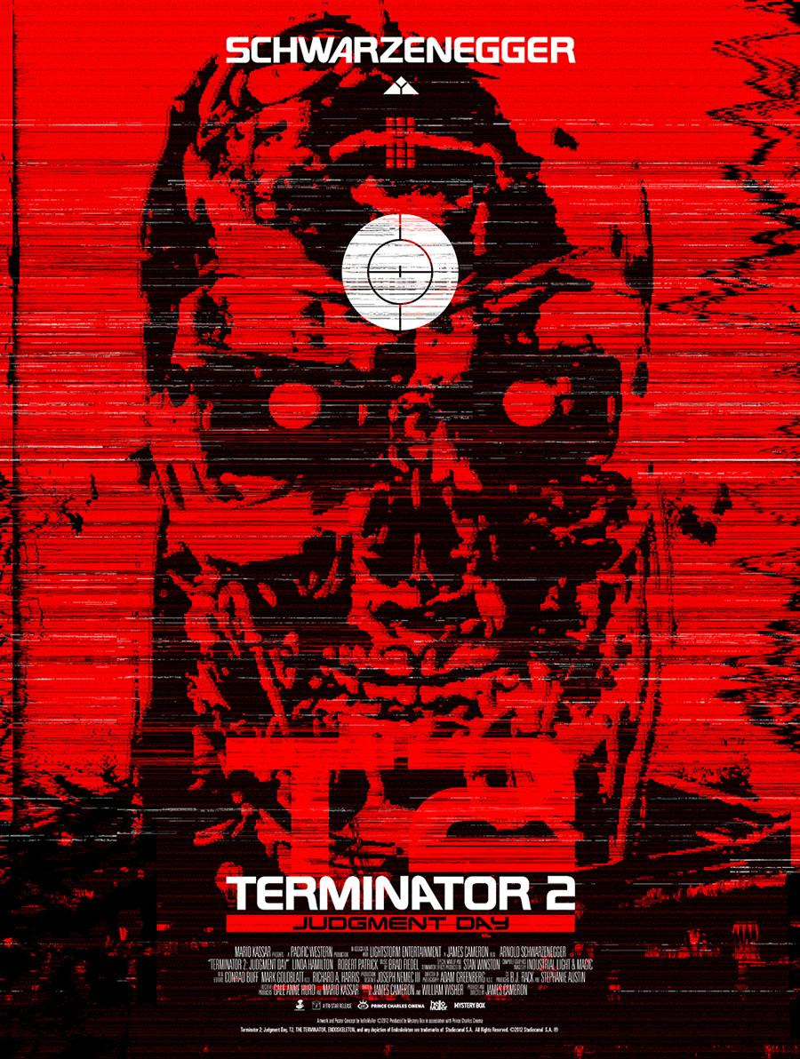 Terminator 2 Posters Launch by Signalnoise and helloMuller | Abduzeedo | Graphic Design Inspiration and Photoshop Tutorials