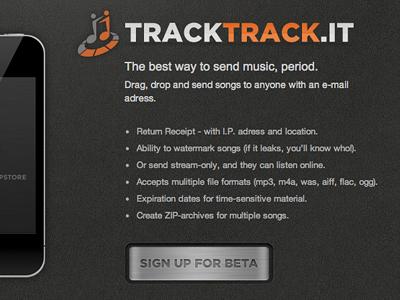 Tracktrack Website by RepixDesign