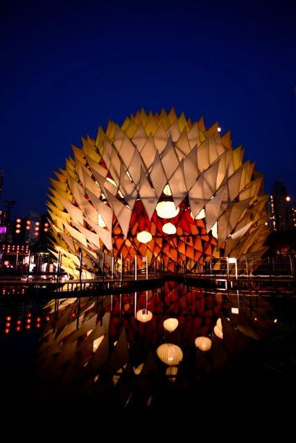 Golden Moon Pavilion Glows Colorfully Like a Giant Lantern - My Modern Metropolis