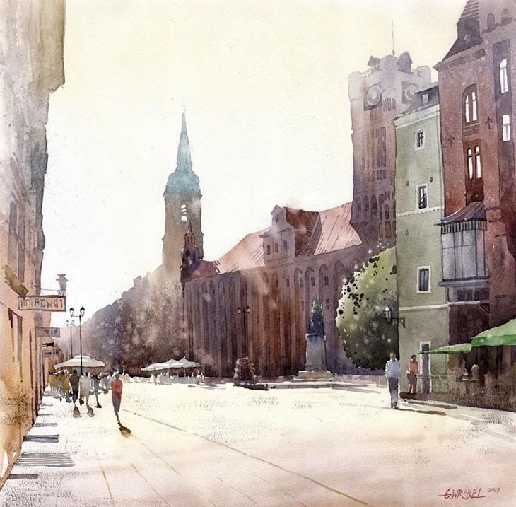 Watercolors by Grzegorz Wróbel | LivingDesign