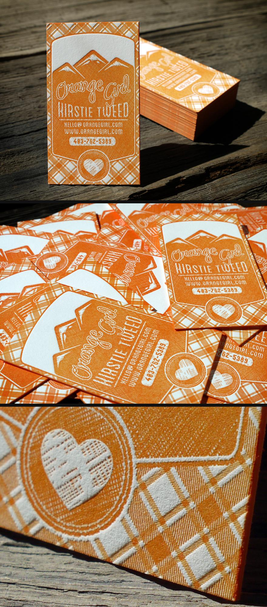 Orange Girl Letterpress Business Cards - Business Cards - Creattica