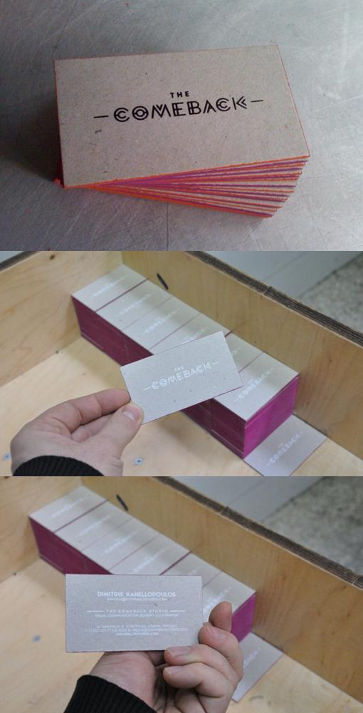 Cool Edge Painted Business Cards | Card Observer