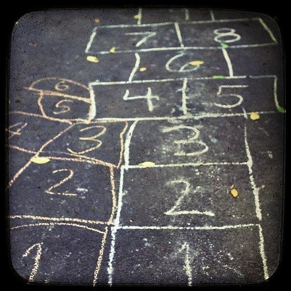 Modern home decor Hopscotch urban art shabby by CarlChristensen