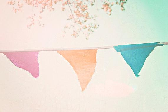 Vintage Bunting 8x10 photograph Summer by maybesparrowsplace