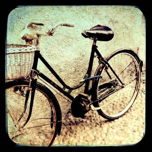 Black Bike Italy photograph Travel Photo by LupenGrainne on Etsy