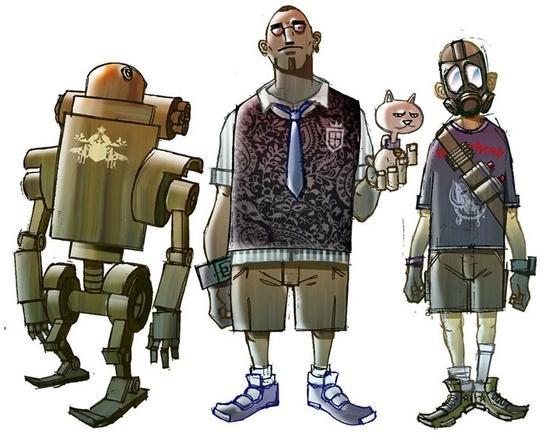 Bots (illustrations) by Mike Ramos at Coroflot.com