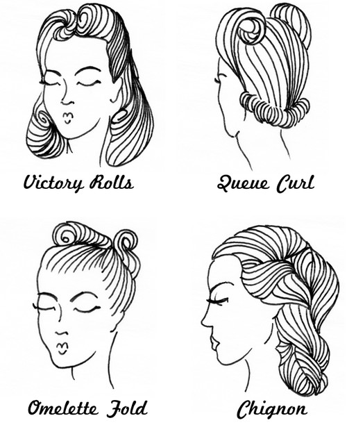 make-up & beauty / 40s hair