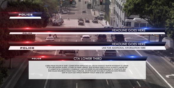 After Effects Project Files - Police Lower Third | VideoHive