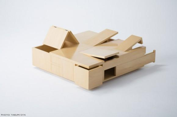 Table of Secret Compartments | Kai Table by Naoki Hirakoso and Takamitsu Hirataka | Spoon & Tamago