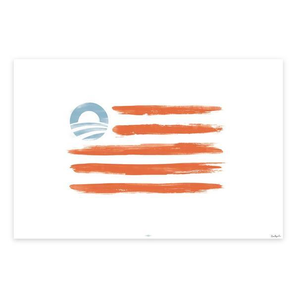 Obama campaign now selling its version of American flag, complete with 'O' logo | Twitchy