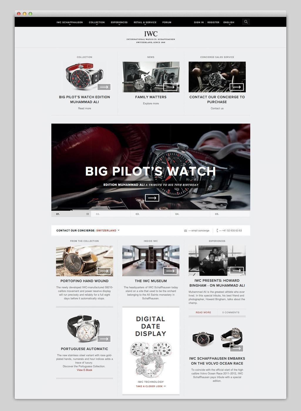 Websites — IWC Schaffhausen