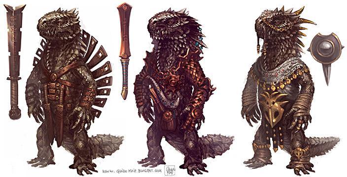 Lizardmen Designs by yoitisi - Guido Kuip - CGHUB