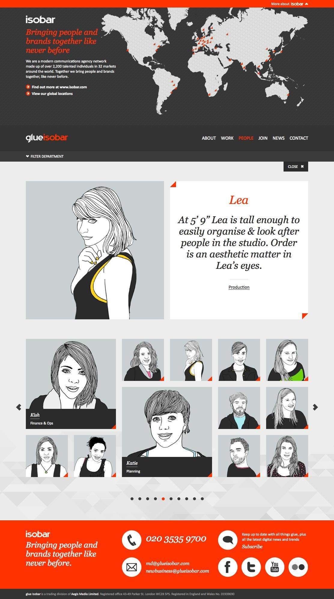 Best About Pages – Showcasing the best of the best about pages on the web » Glue Isobar