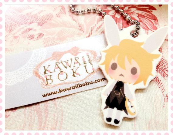 VOCALOID Kagamine Len Alice in Musicland Keychain by KAWAIIBOKU