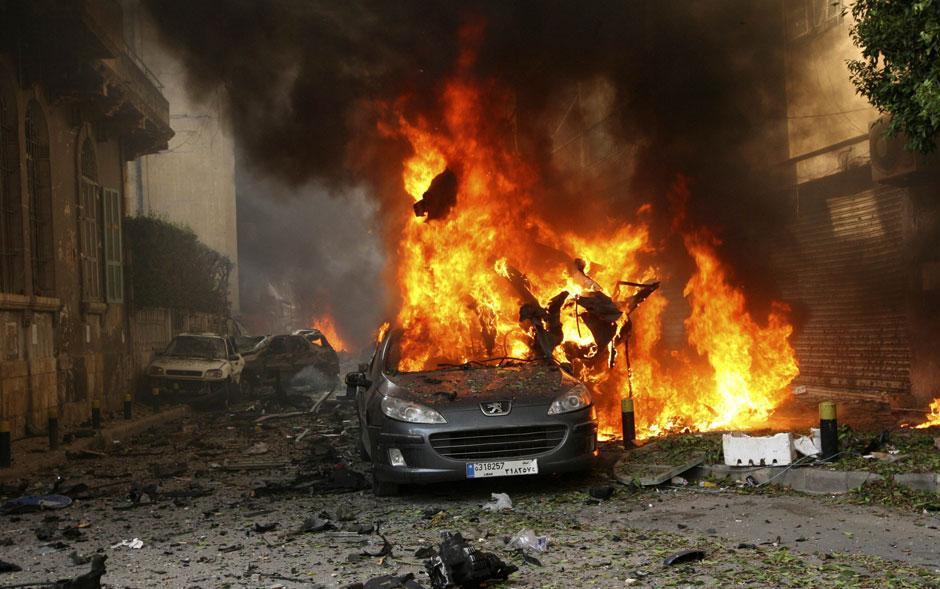 Atentado com carro-bomba deixa mortos em Beirute; veja fotos - fotos em Mundo - g1