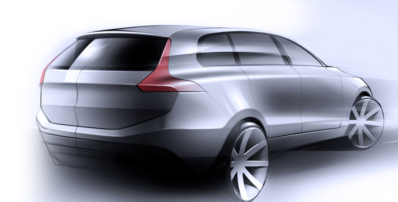Volvo 2014 XC90 Design Sketch - Car Body Design