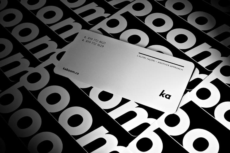FPO: Kaboom Communication Design Business Card