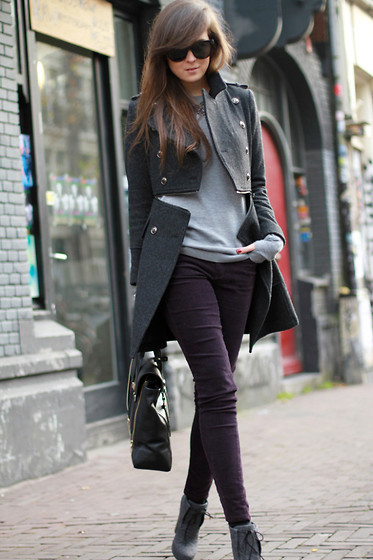 Phillip Lim Bag, Topshop Purple Pants, Celine Sunnies //
