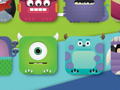 Monsters Inc iPhone4 wallpaper by Jessica Fong