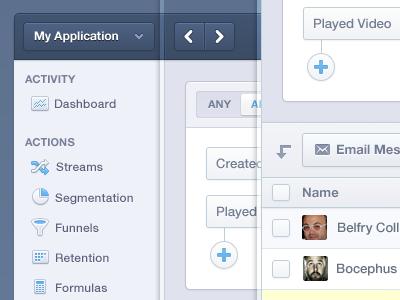 Mixpanel Product App Navigation UI by Mason Yarnell