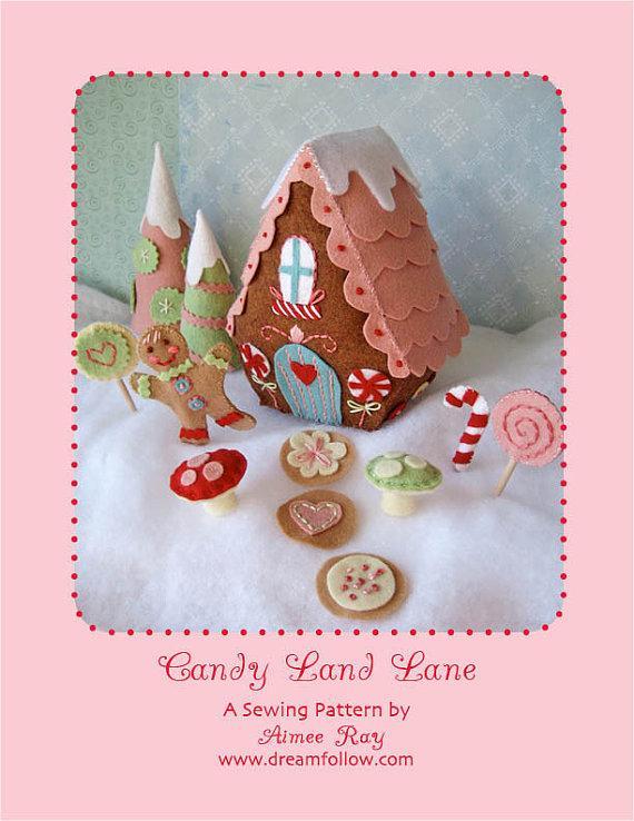 felt Candy Land Lane PDF pattern par littledear sur Etsy