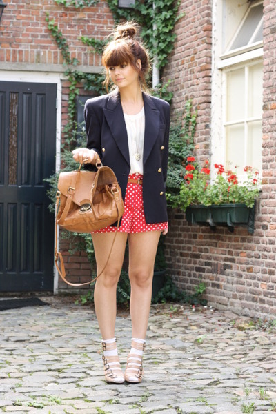 Vintage Blazers, Oasis Shoes, Asos Purses, Self Made Shorts |