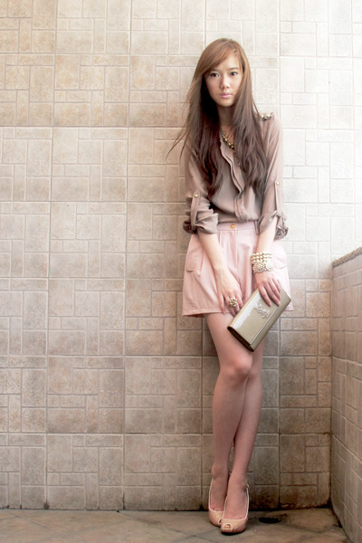 Zara Blouse, Ysl Purses, Trunkshow Shorts, Pearl Forever 21 Bracelets |