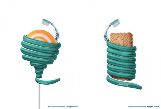 MATIO :: 트렌드리뷰 블로그 - 숨어있는 음식도 놓치지 않는다! Aquafresh 칫솔 광고