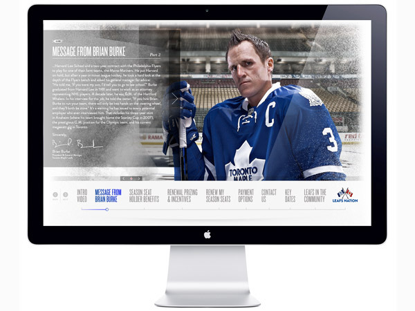 Toronto Maple Leafs 2011-2012 Season Seat Renewal site