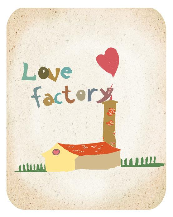 Love Factory Art Print 8x10 inch Wall Decoration by EinBierBitte