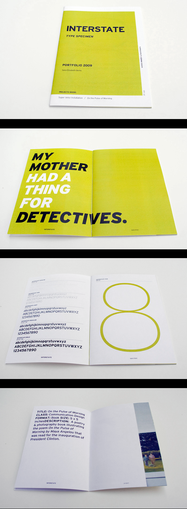 2009: Type Specimen Portfolio on Typography Served