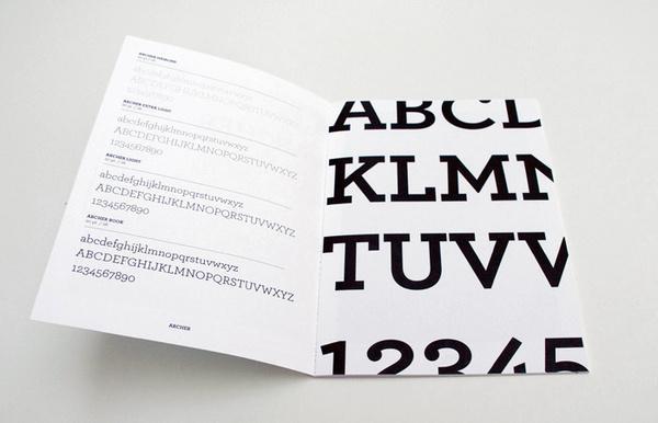 2009: Type Specimen Portfolio on Typography Served