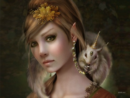 Woodland Elf - Fantasy Wallpaper 87827 - Desktop Nexus Abstract