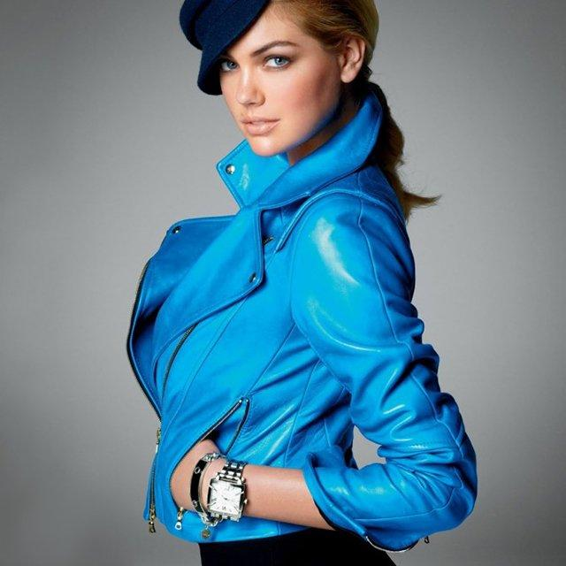 Fancy - Blue Motorcycle Jacket by Jason Wu