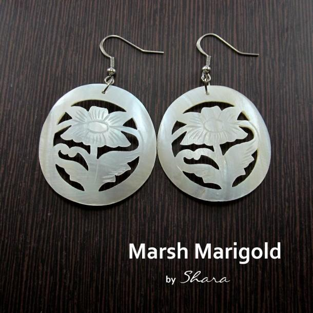 Marsh Marigold Earrings - Craftsia - Indian Handmade Products & Gifts