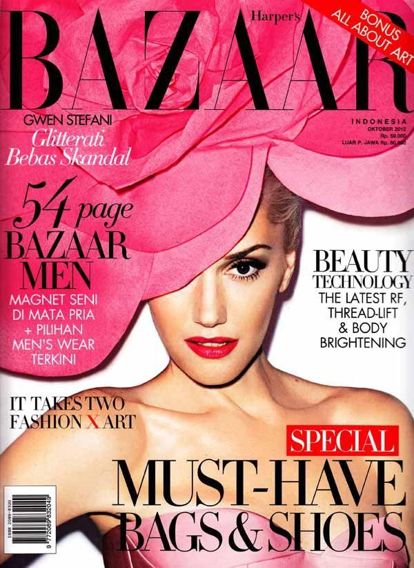 Gwen Stefani - Harper's Bazaar Magazine [Indonesia] (October 2012) Magazine Cover Photo