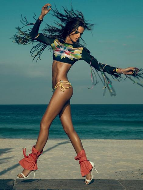 Fashion — Izabel Goulart by Eduardo Rezende for Elle Brazil