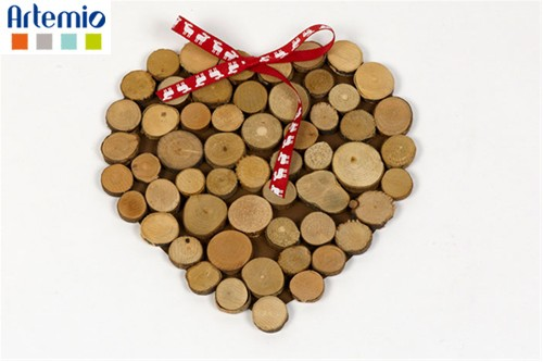 Ideas - by events - Christmas: Wooden ring christmas heart | Artemio - Creator of Ideas