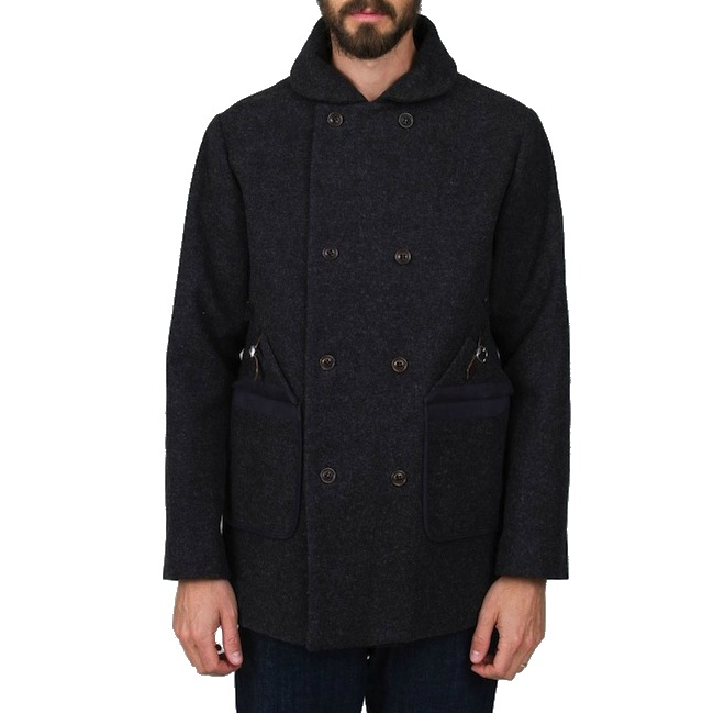 Folk Wool Overcoat Charcoal discount sale voucher promotion code | fashionstealer