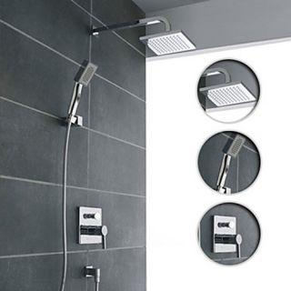 Wall Mount Contemporary Chrome Shower Faucet Set – FaucetSuperDeal.com