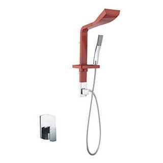 Contemporary Widespread Wall Mount Shower Panel Faucet with Hand Shower – FaucetSuperDeal.com