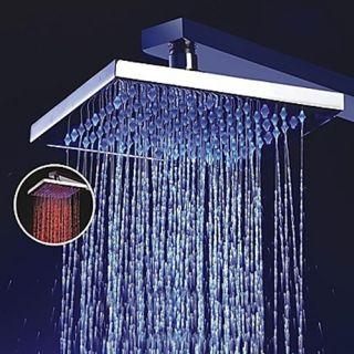 8 Inch Brass Shower Head with Color Changing LED Light – FaucetSuperDeal.com