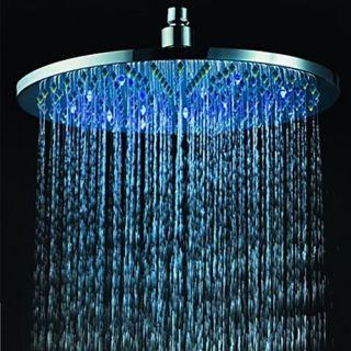 12 Inch Brass Shower Head with Color Changing LED Light – FaucetSuperDeal.com