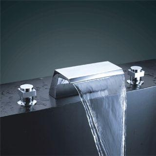 Chrome Finish Double Handle Waterfall Bathtub Sink Faucet – FaucetSuperDeal.com